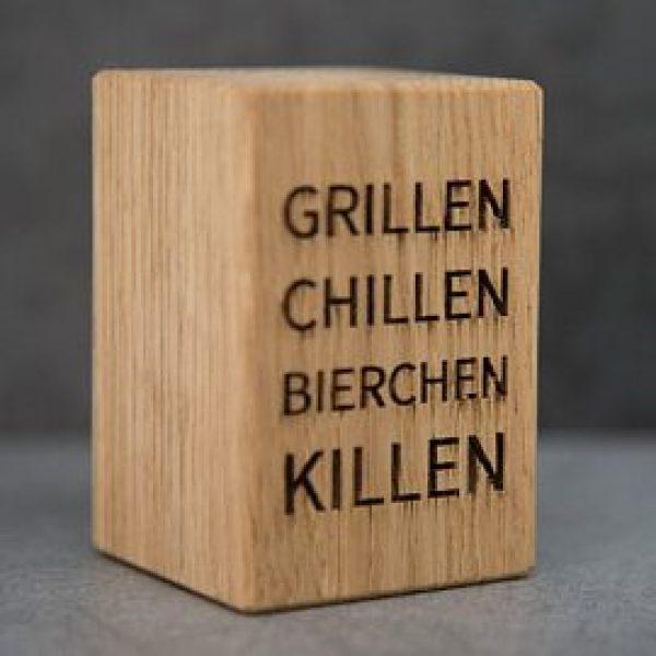"""Bieröffner """"Grillen, Chillen,..."""""""
