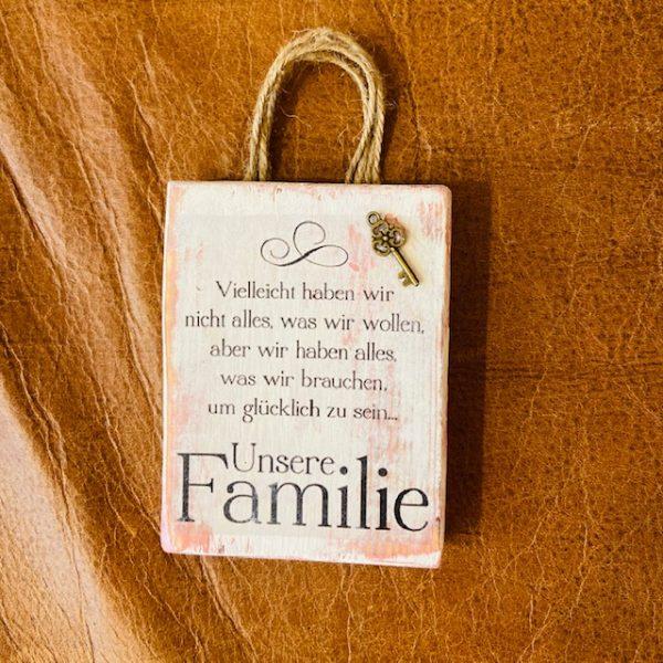 """Spruchbild """"Familie"""" Mini"""