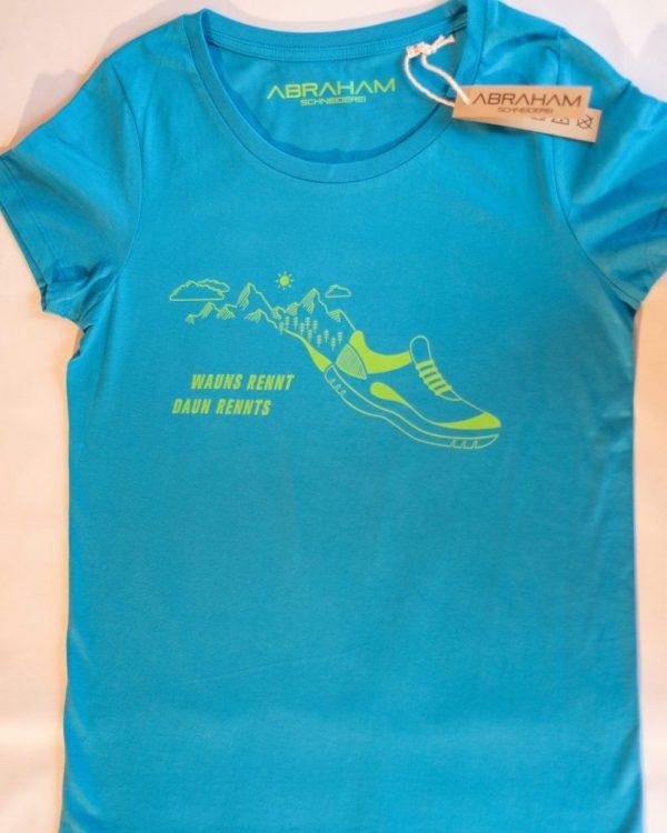 """T-Shirt """"Wauns rennt - Aqua Damen"""""""