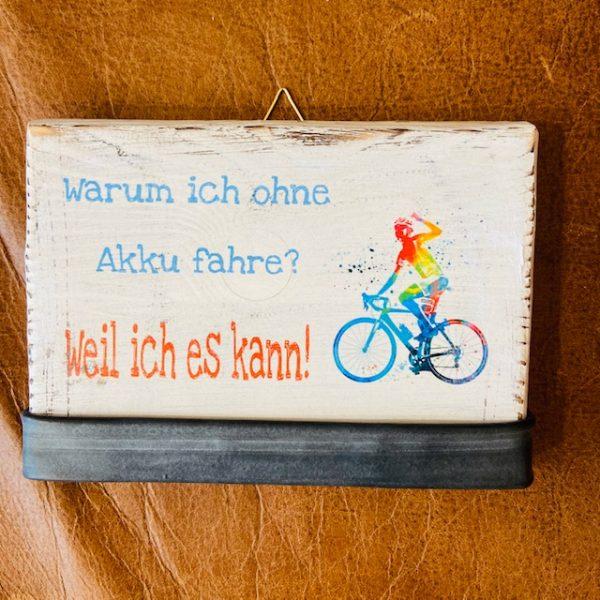 """Radspruch """"Akku"""" Small"""