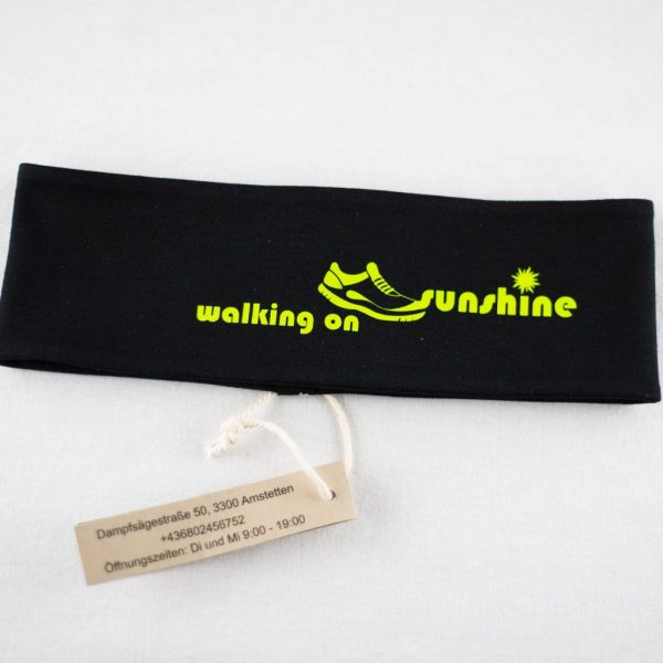 "Stirnband schwarz/limette ""walking on sunshine"""