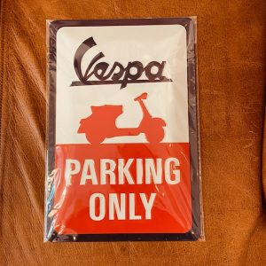 "Metallschild Vespa ""Parking"" 20 x 30 cm"