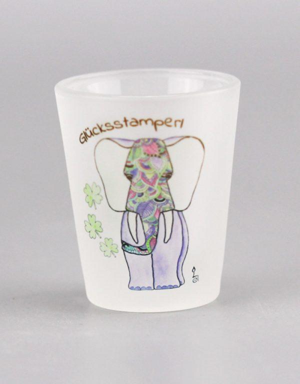 """Schnapsglas """"Glücksstamperl"""""""