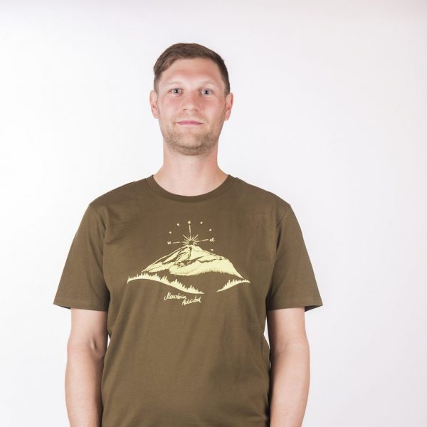 "T- SHIRT ""MOUNTAIN LOVE"" BRITISH KHAKI"