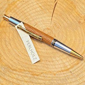 Holzkugelschreiber perlholz/gold-chrom