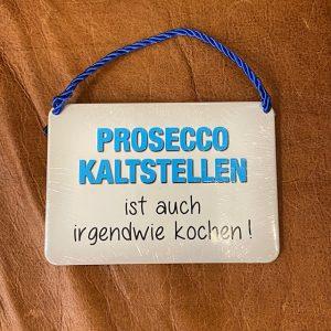 """Metallschild """"Kulthänger Prosecco"""""""