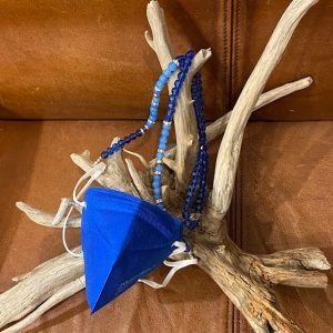 "Maskenkette Perlen ""blau"""