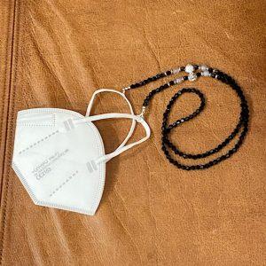 """Maskenkette Perlen """"schwarz"""""""