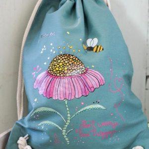 "Turnbeutel ""Bee Happy"""